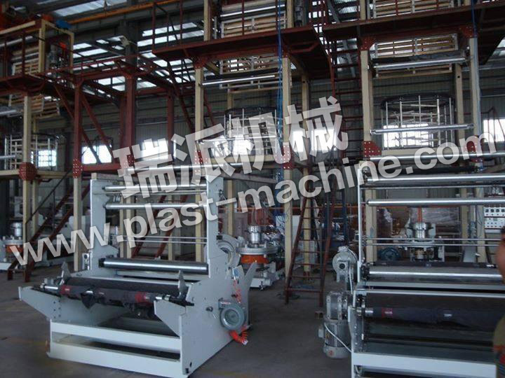 Mono Layer Ruipai Brand Rotary Die Double Winder Blown Film Machine