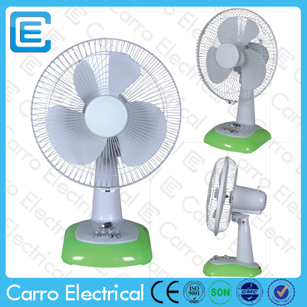 12 Inch Rechargeable Table Fan with LED Lamp CE-12V12g