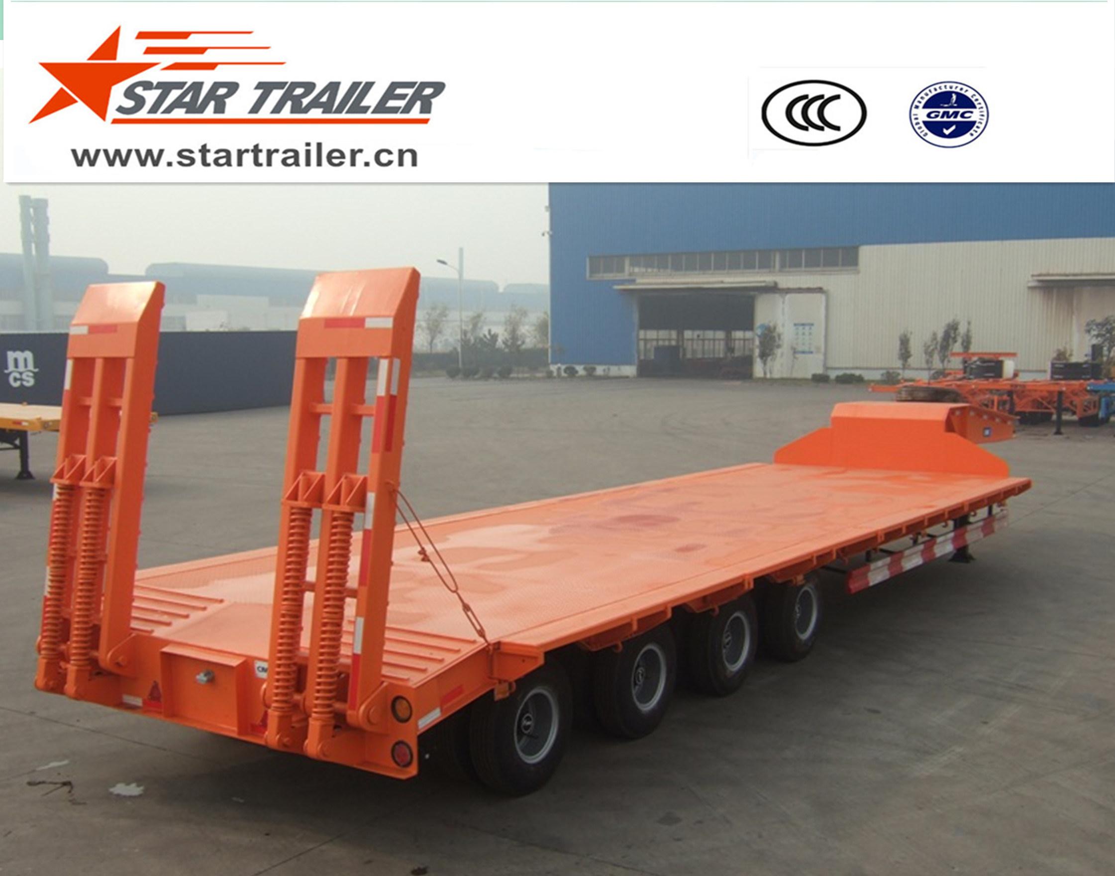 4 Axles Heavy Equipment Transport Low Bed Trailer