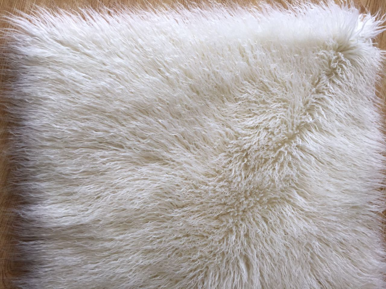 Milk White and Pure White Fluffy Mongolian Faux Fur