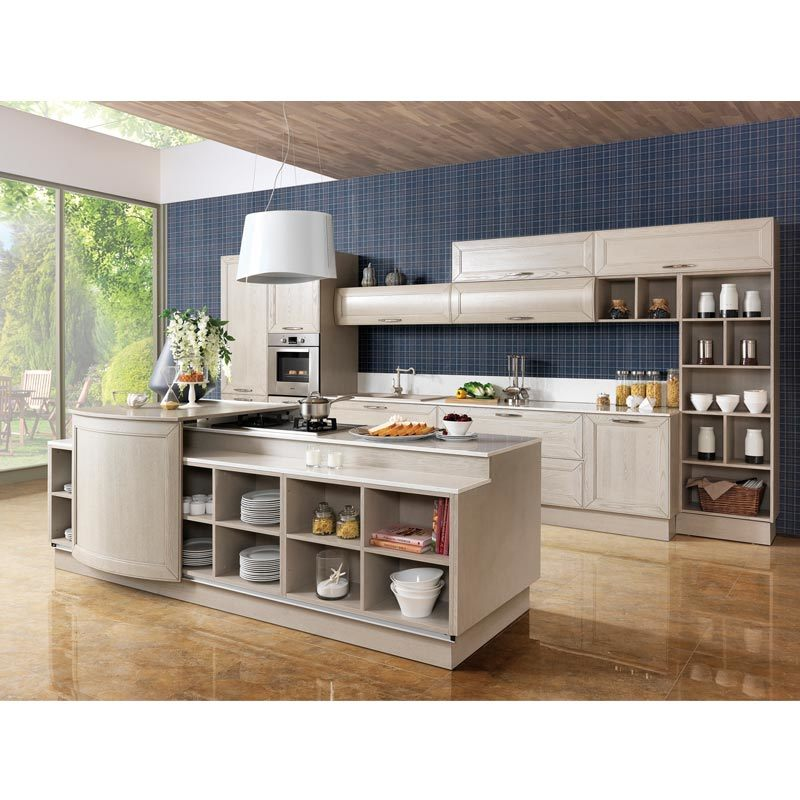 China oppein countryside ash solid wood kitchen cabinet for Ash wood kitchen cabinets