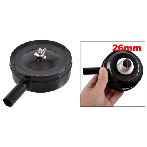 "1"" PT Male Thread Metal Air Compressor Silencer Filter Muffler Black"