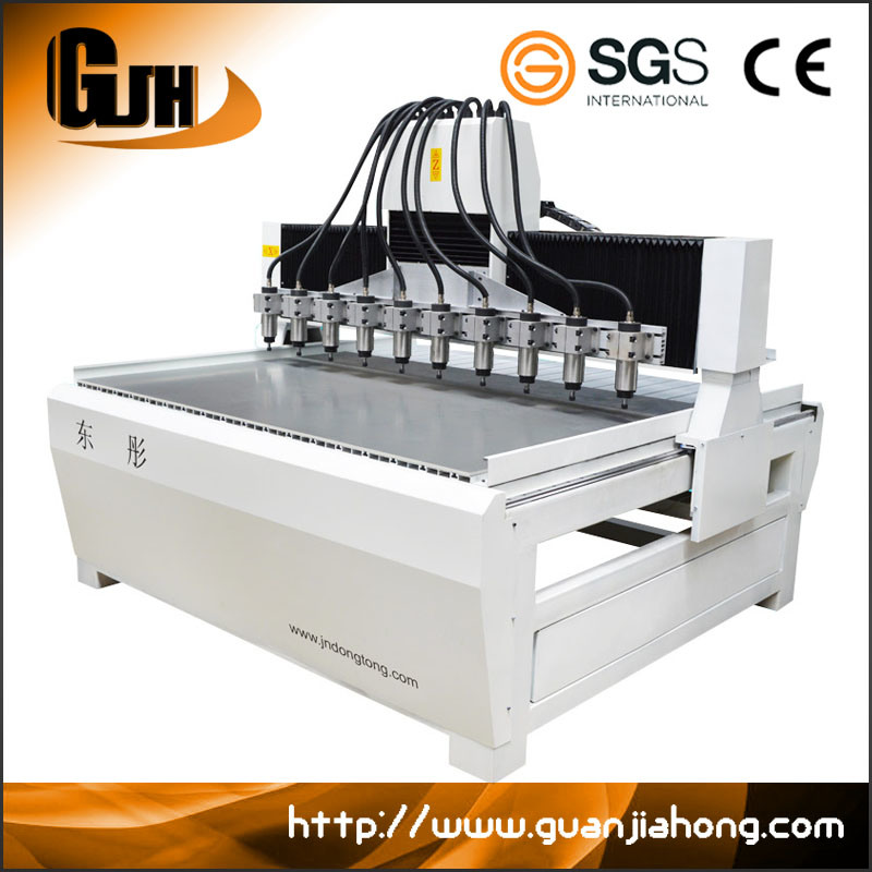 Dt1813-10 Wood Stone Acrylic Plastic Multi-Spindle CNC Router Machine