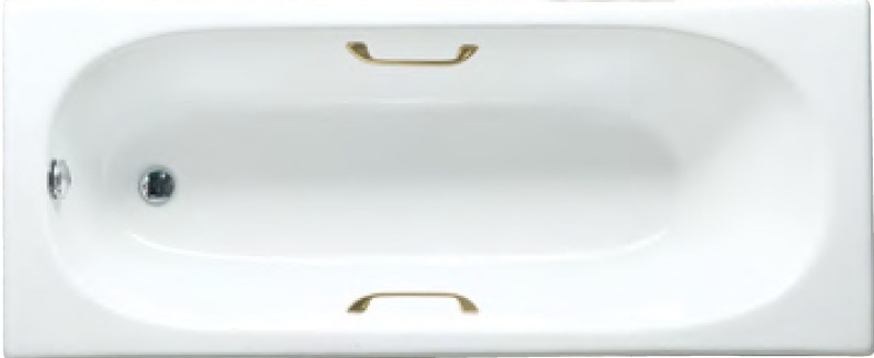 160X70X42cm Drop-in Enameled Cast Iron Bathtub with Legs