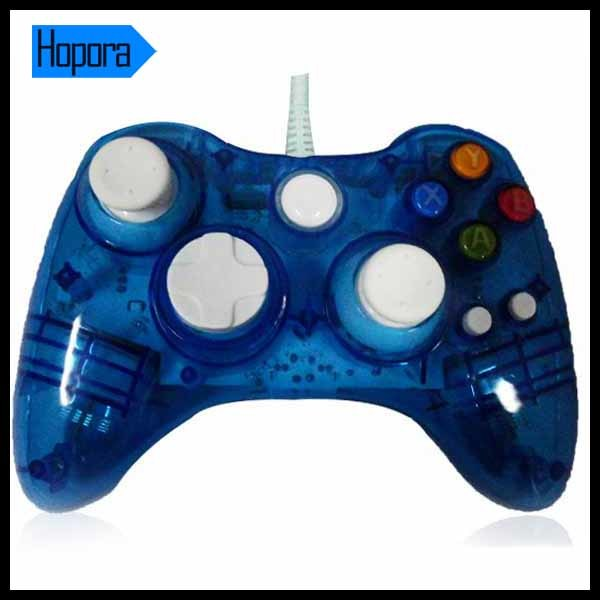 Wholesale Transparent Wired Joystick for xBox 360 Controller LED Lighting
