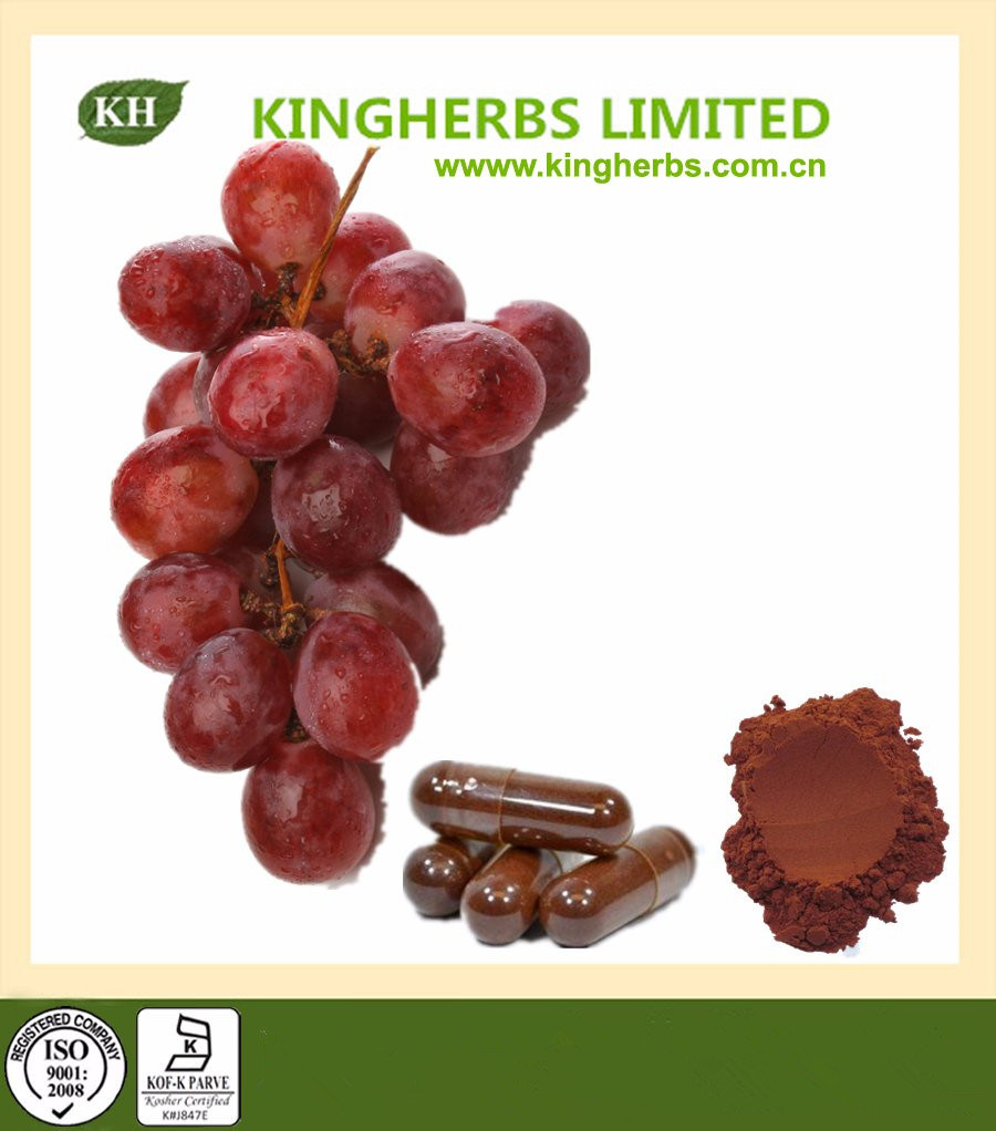 100% Natural High Quality Grape Seed Extract Proanthocyanidins 95% UV