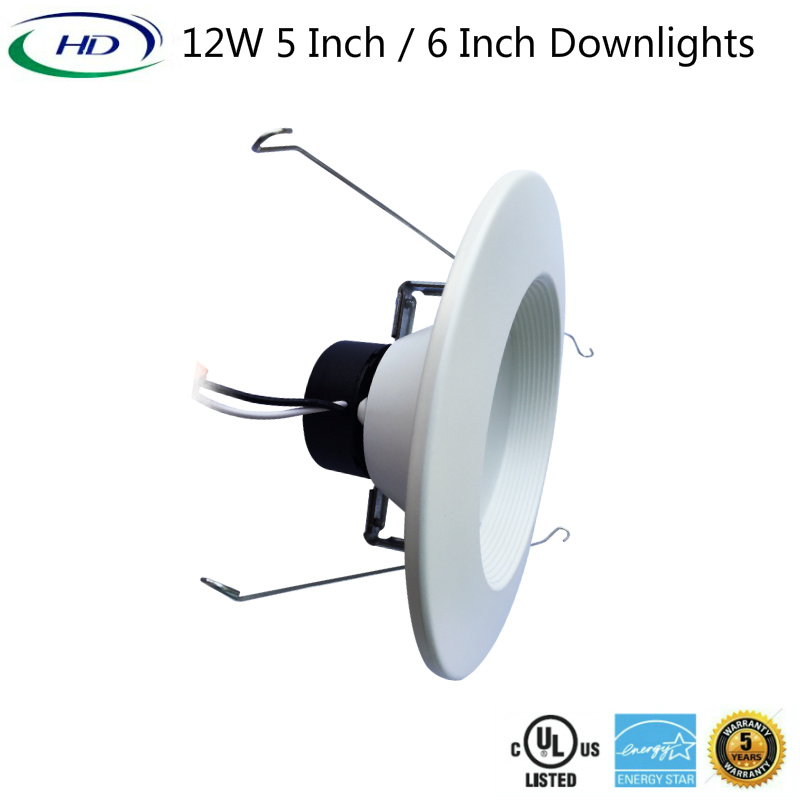12W 5 Inches Triac Dimmable LED Downlight with 5 Years Guarantee