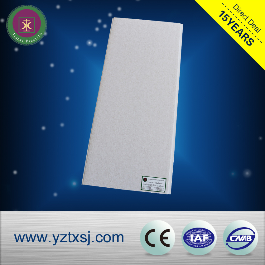Pure White High Glossy PVC Ceiling Tiles 250*7mm Size