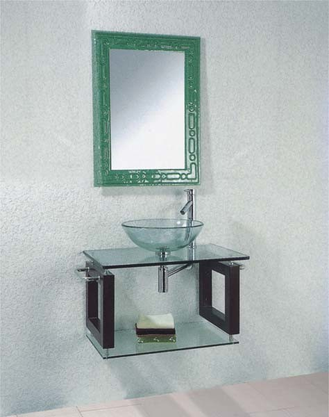 Bathroom Wash Basin : Glass Bathroom Wash Basin (AH8081) - China Basin, Wash Basin