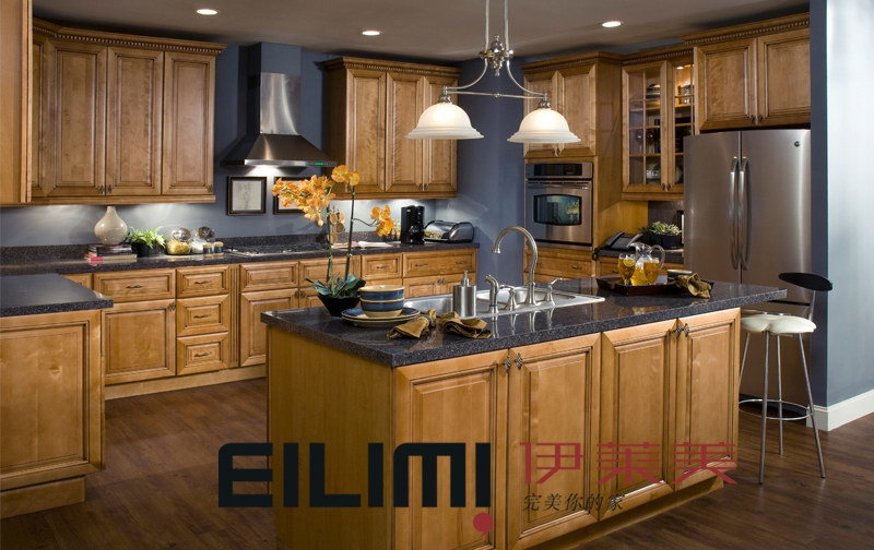 Blue Kitchen Maple Cabinets Quicua