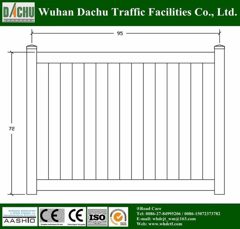 Powder Coated PVC Fence