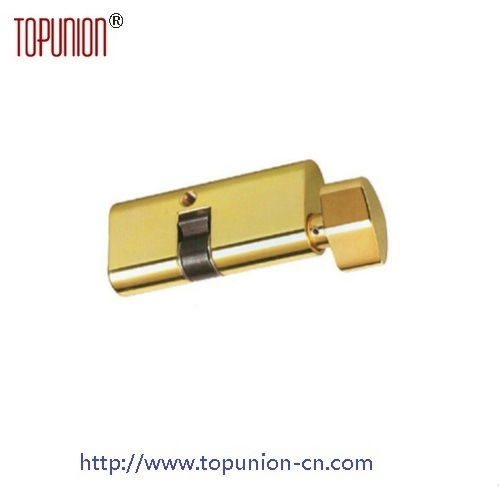 En1303 High Quality Single Opening Brass Lock Cylinder with Knob