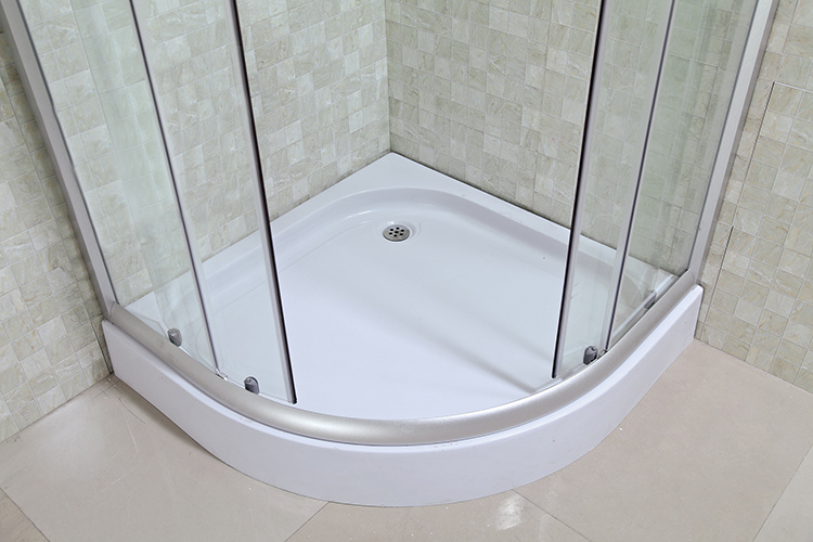 Cheap Corner Shower Cabin with Printed Glass Door (LTS-825)