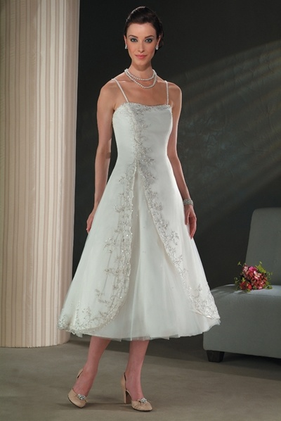 Cute TeaLength Wedding Dress and Bridal Gown TEAWD010