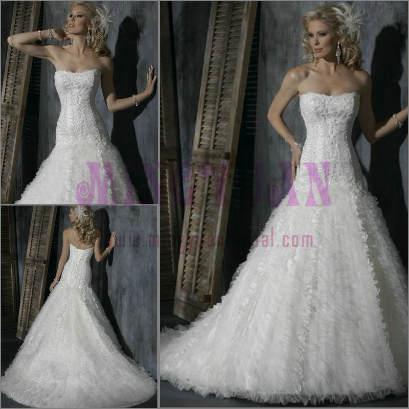 Exquisite Chiffon Backless Wedding Dress Wb42