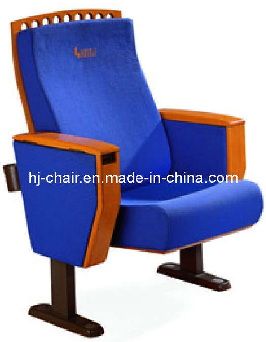 Blue Fabric Covered with MDF Wood Theater Chair