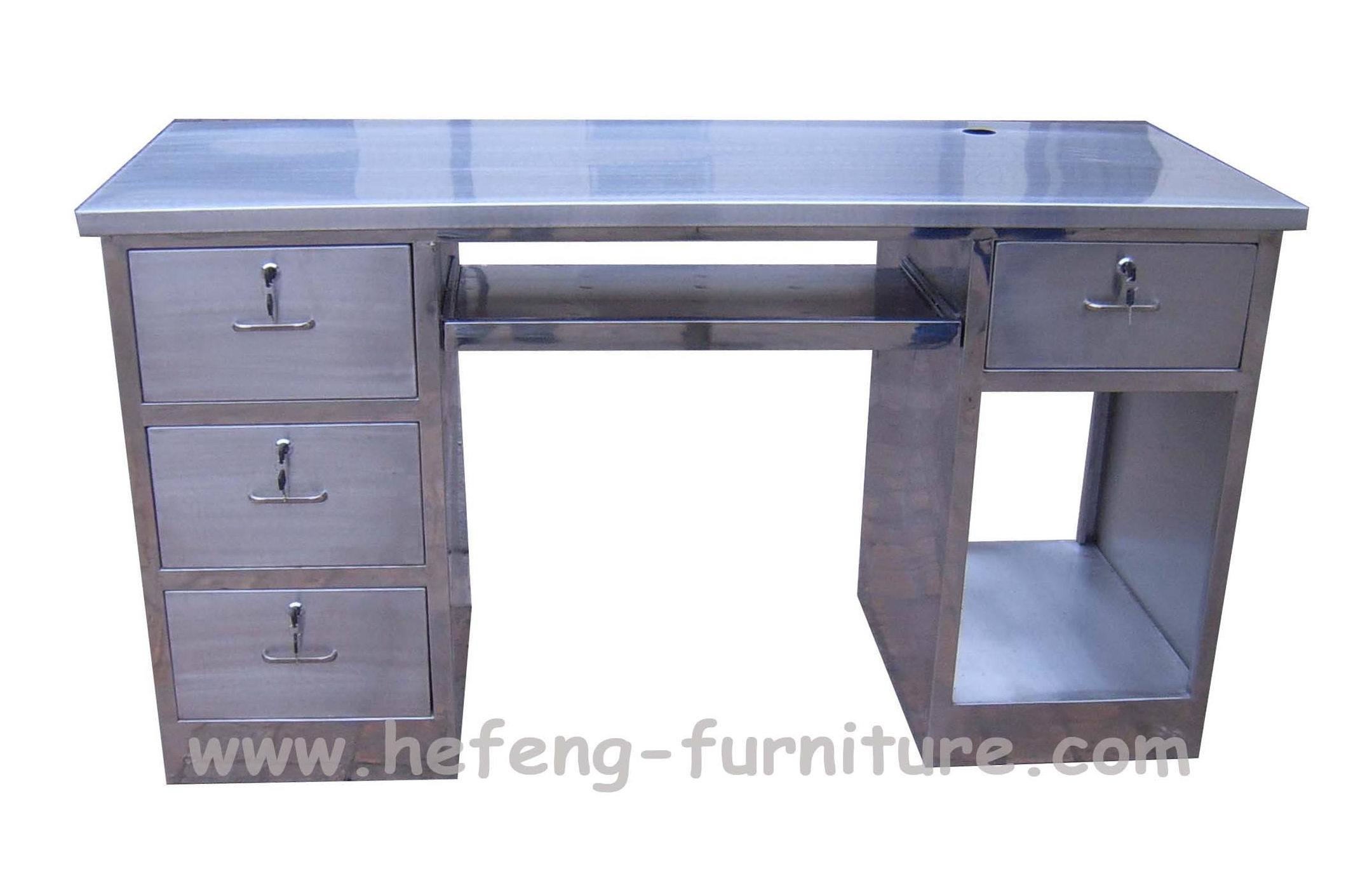 Stainless steel office desk 28 images stainless steel office desk with drawers comacina by - Metal office desk ...