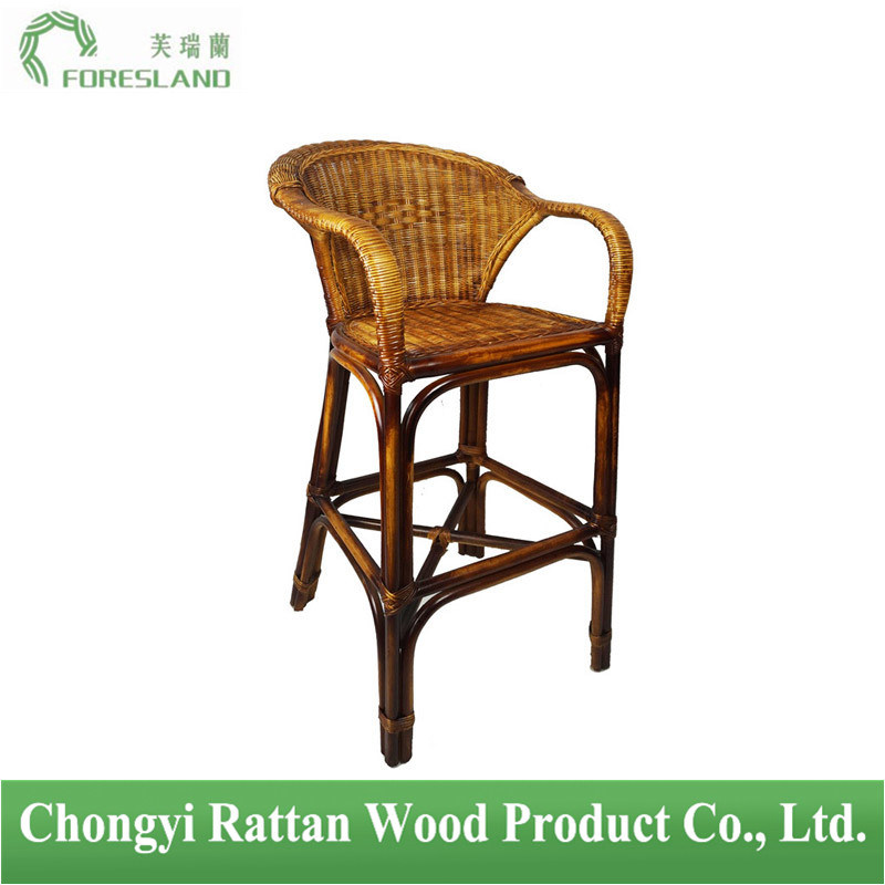 Natural Rattan Barstool Bar Chair