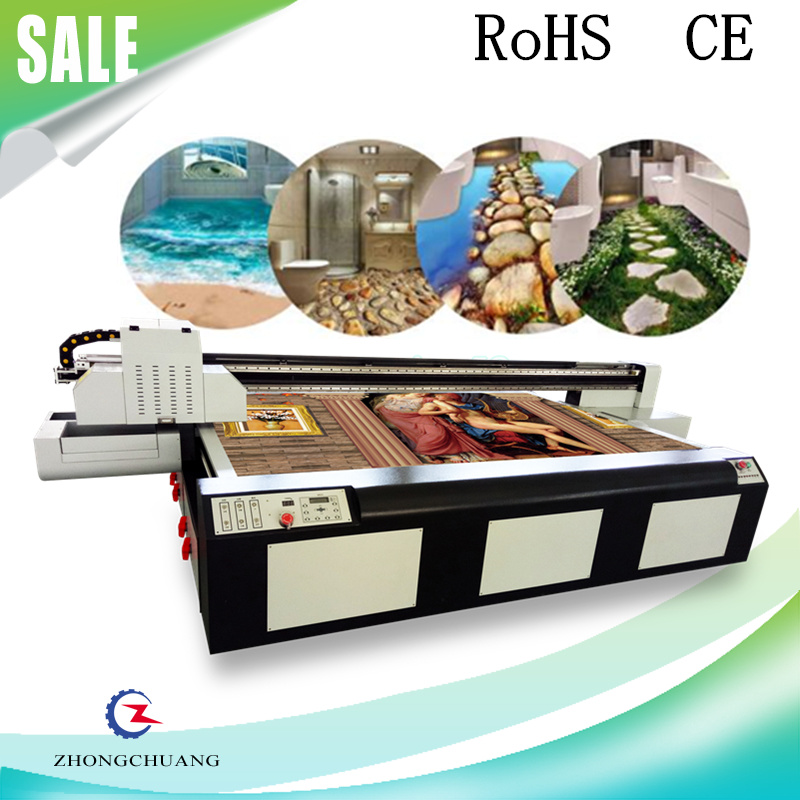 Hi-Tech UV Flatbed Printer for 3D Tiles Wood Glass Printing