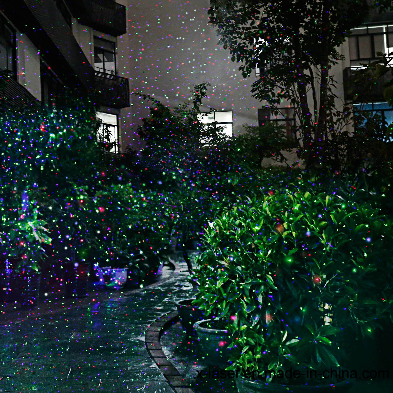 RGB Motion Outdoor Laser Shower Light