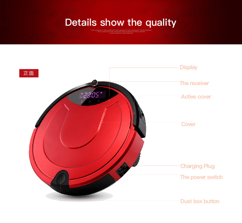 Robot Vacuum Cleaner 2016 Auto Cleaning Floor Cleaner with Virtual Wall for Sale