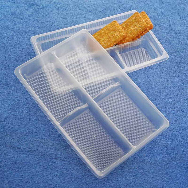 OEM disposable plastic sushi/cakies/biscuit snack blister tray(PP tray)