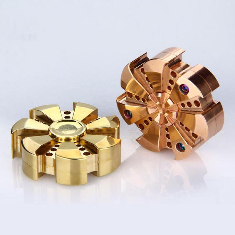 Rose Turbine Hand Spinner Aluminum Alloy Fidget Spinner Hand Focus Toy