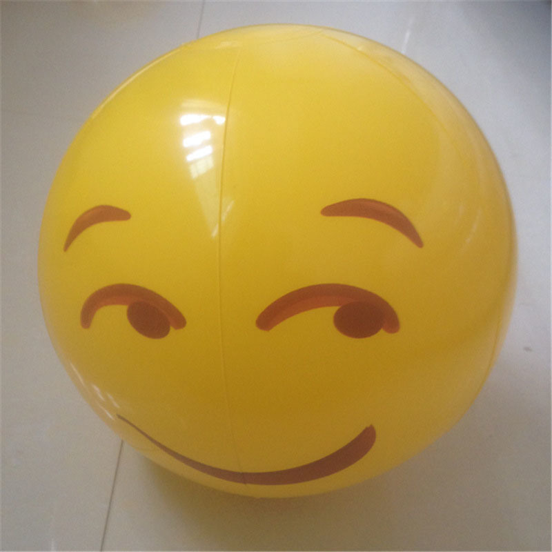 12 Inches PVC or TPU Inflatable Face Felling Beach Ball