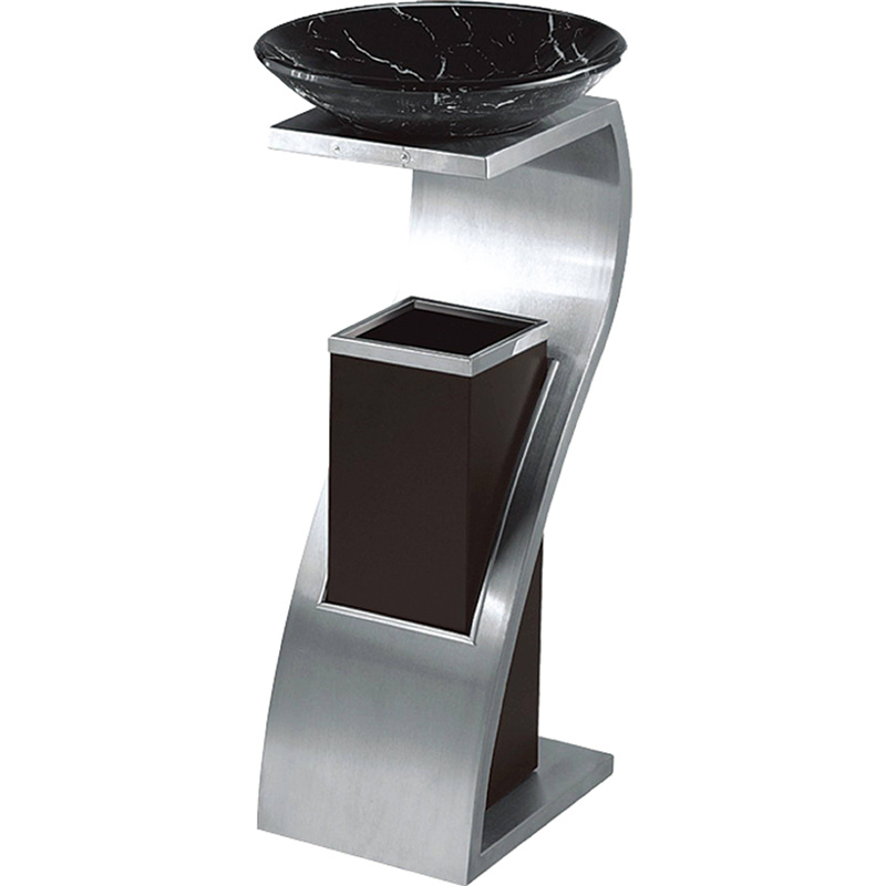 Elegant and Luxury Ashtray Bin Garbage Waste Can for Lobby