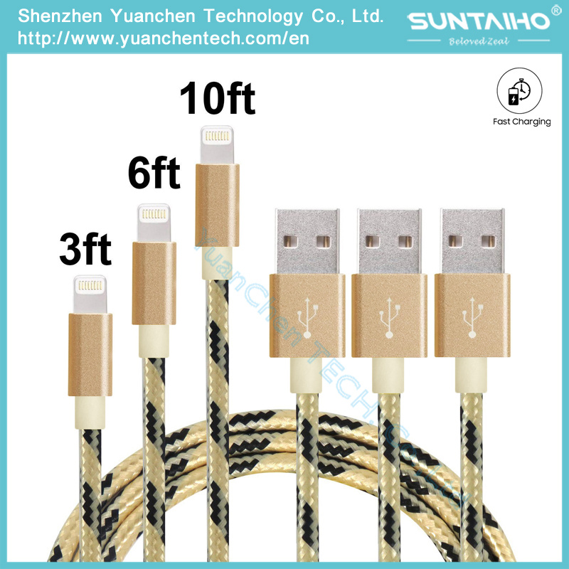 New Arrival Promotional 1m/V8 USB Port Charging and 2.0 USB Data Transfer Braided Fabric Cable