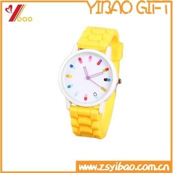 Promotion Gift with Custom Logo Silicone Quartz Men Women Jelly Wrist Watch Silicone Watch
