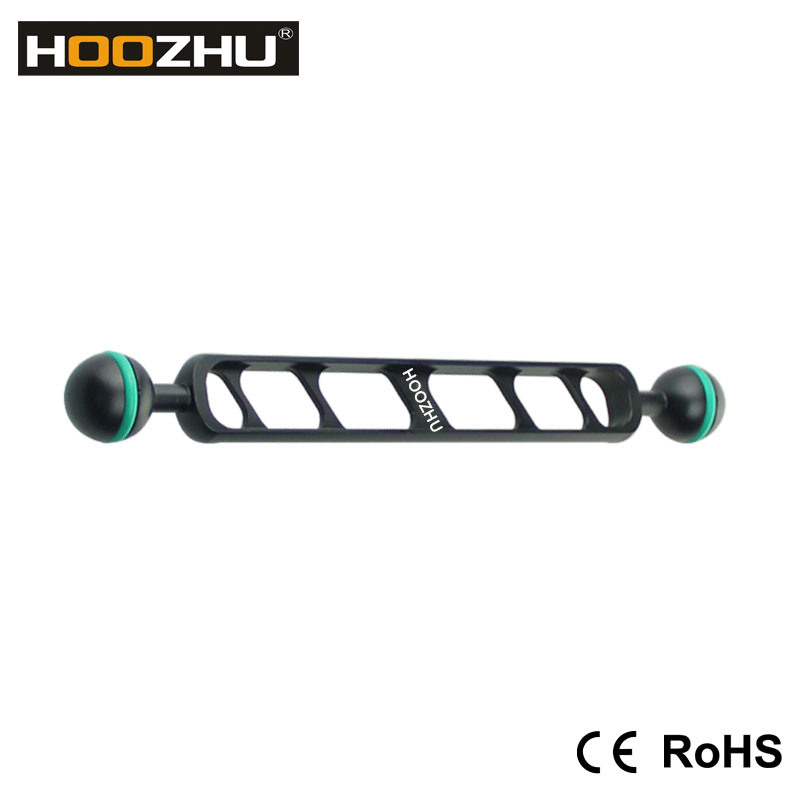 New Hoozhu S90 9inch Double Ball Head Support for Diving Camera &Diving Video Light