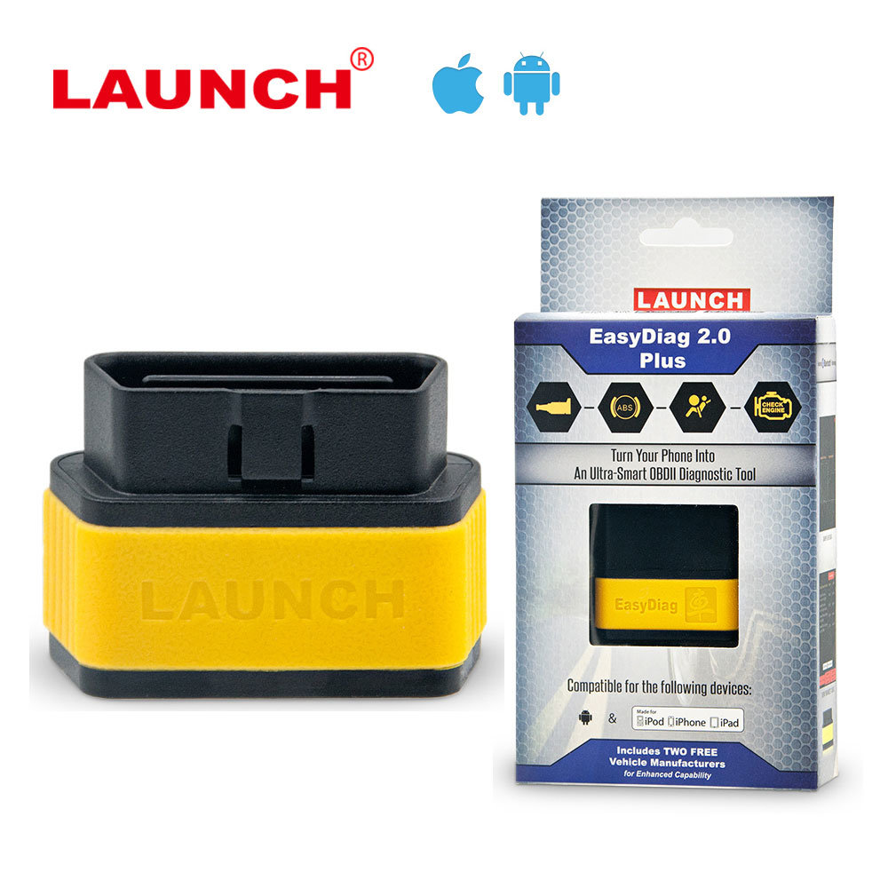 Launch X431 Easydiag 2.0 Plus Obdii Code Reader Scanner for Ios Android Easy Diag with Two Free Car Software