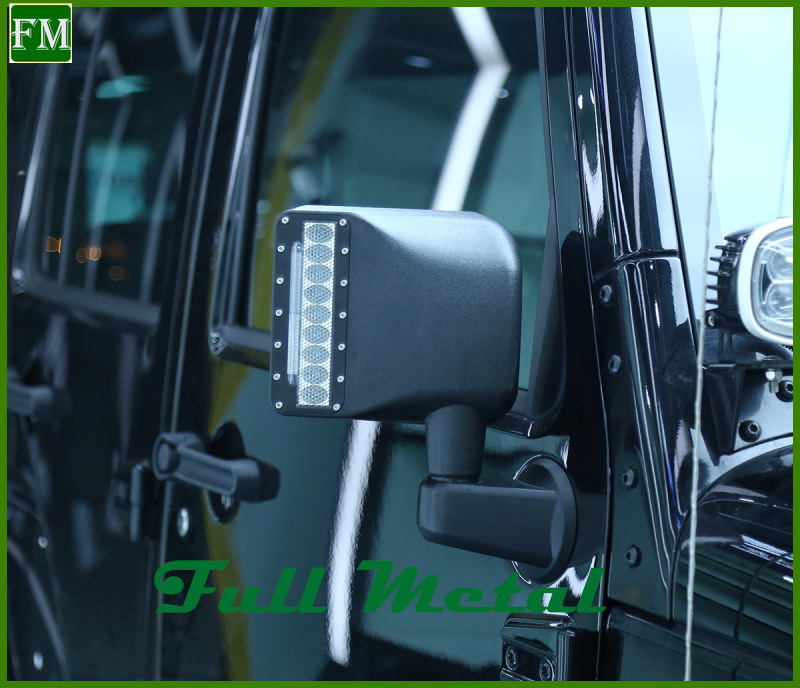 Side Mirror Cover with DRL LED for 07-15 Jeep Wrangler Unlimited Jk