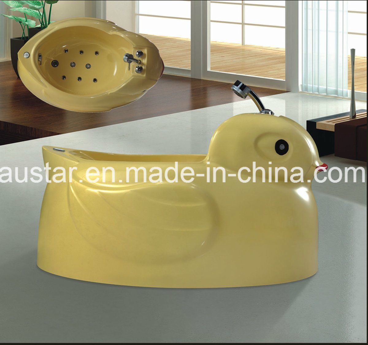 Cute Little Yellow Duck SPA Massage Bathtub SPA Special for Baby (AT-LW109)