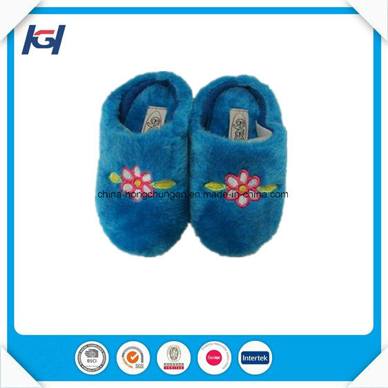 Soft Fur Fluffy Kids Foot Warmers Sleeping House Slippers