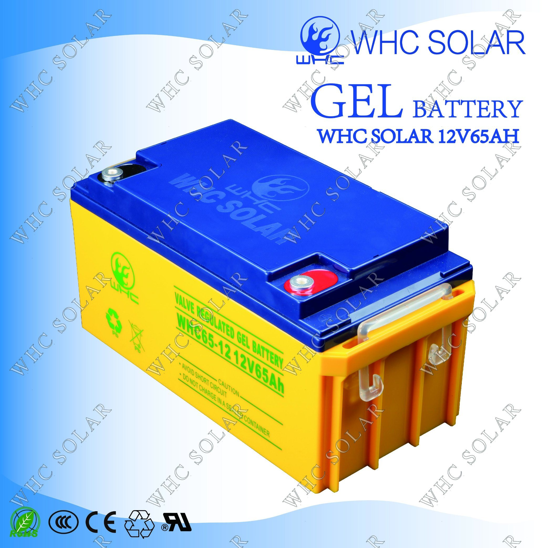 Whc 12V65ah Deep Cycle Gel Solar UPS Battery