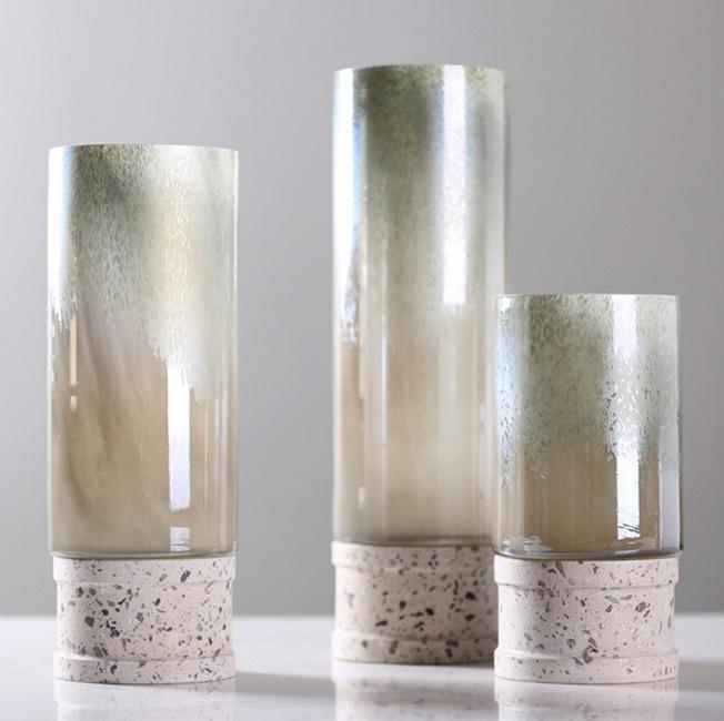 Glass Flowerpot with Pedestal
