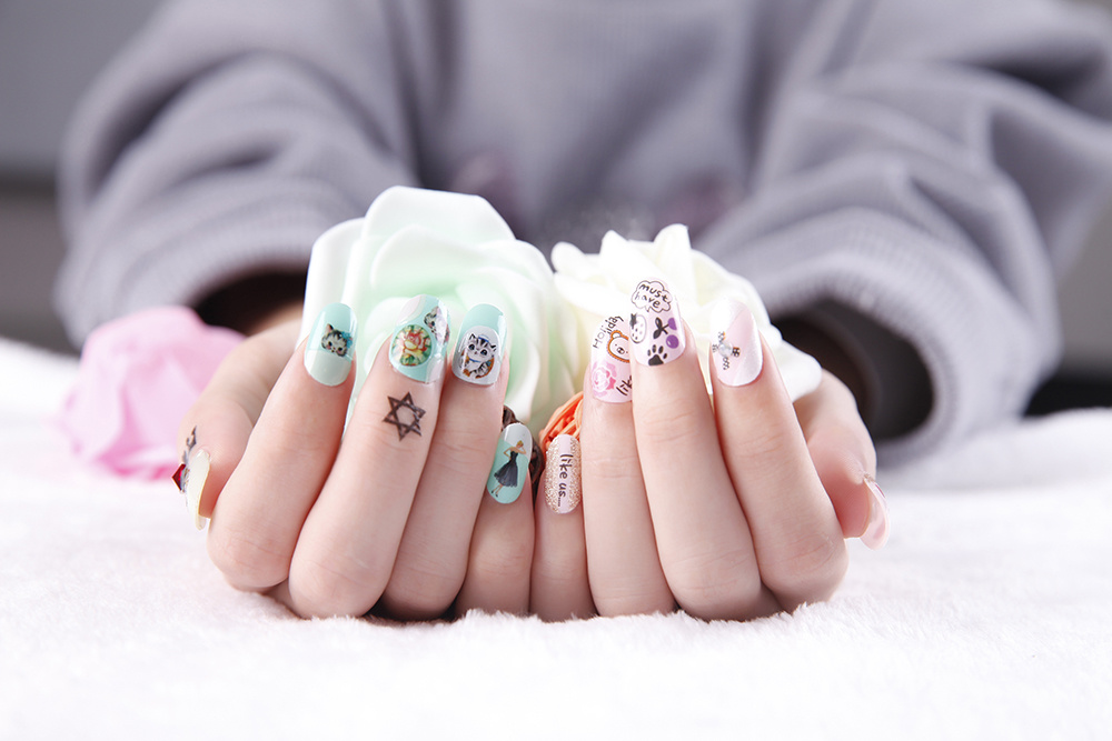 DIY Decoration Lovely Temporary Water Transfer Nail Sticker