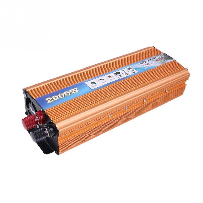 2000W Modified Sine Wave Power Converter USB Charger DC 24V to AC 110V Car Inverter
