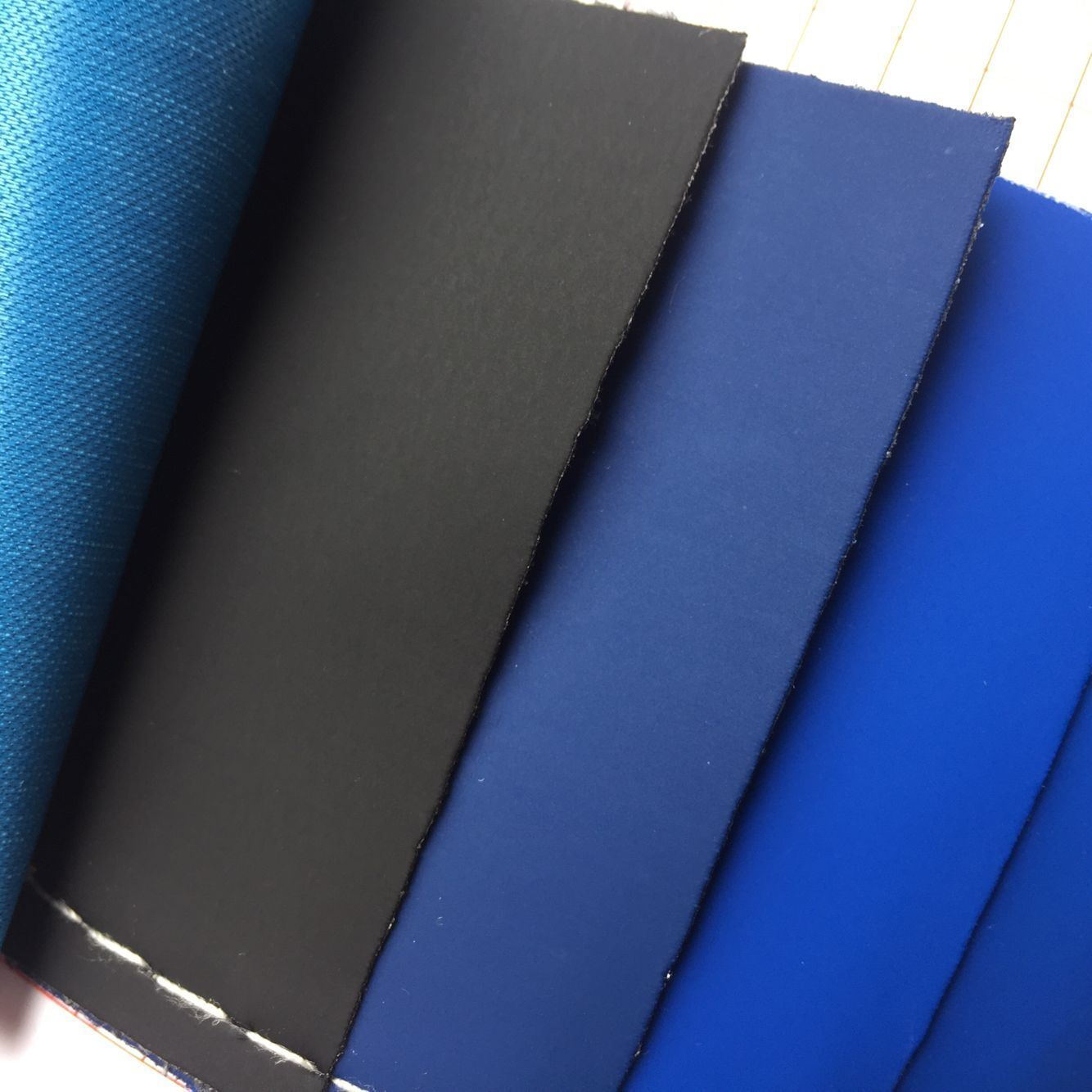 Elastic Plain PU Leather for Package