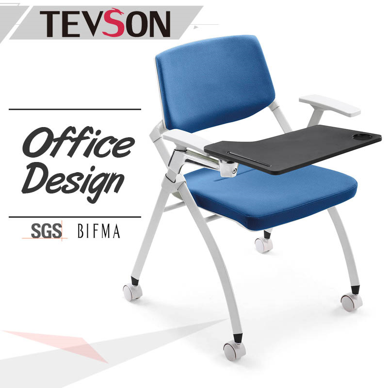 Folded Training Conference Chair with Tablet for School, Library, Lab or Office