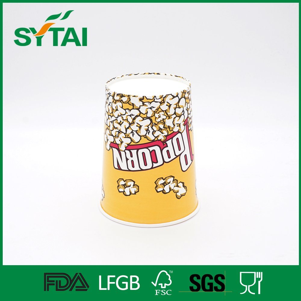 Cinema Use High Quality Biodegradable Disposable Popcorn Paper Bucket