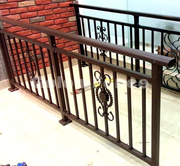 Decorative Exterior Wrought Iron Railing