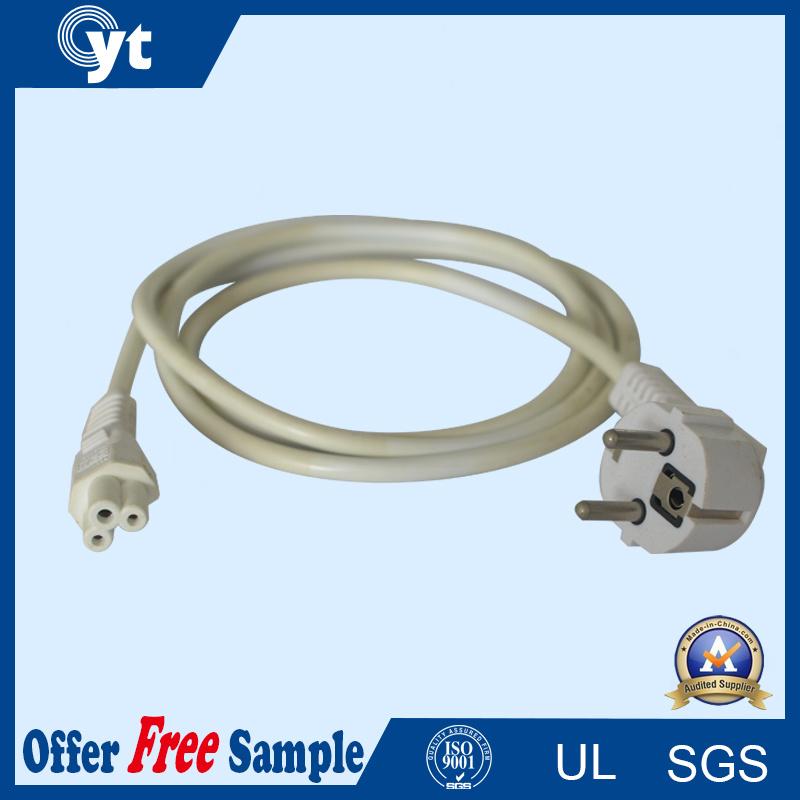 Non-Retractable AC Power Cord 3 Pins Plug