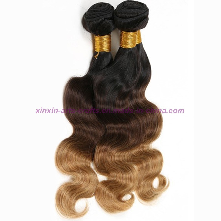 Blonde Weave Bundles Malaysian Ombre Human Hair Three Tones Ombre Hair Body Wave with 2, 3 or 4 Bundles