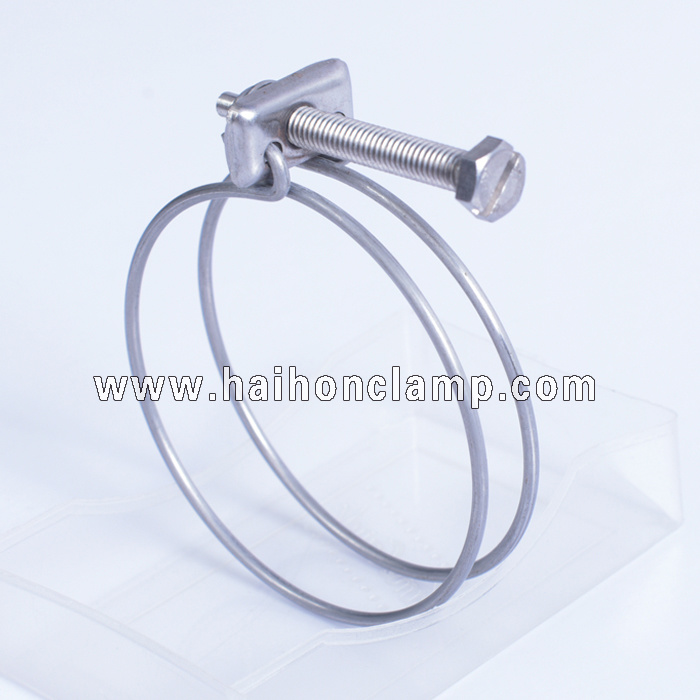 Stainless Steel Double Wires Hose Clamp