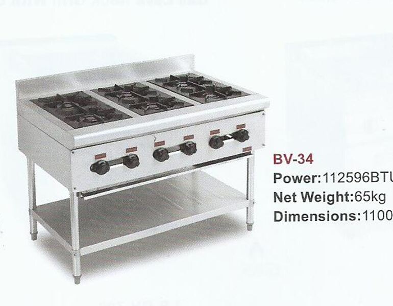 High Quality Gas Stove for Commercial Kitchen