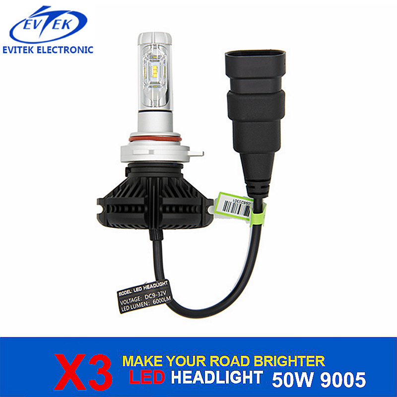 Auto Lamp Philips Chips 50W 6000lm X3 LED Headlight 9005 Hb3 for Car/Truck Head Light
