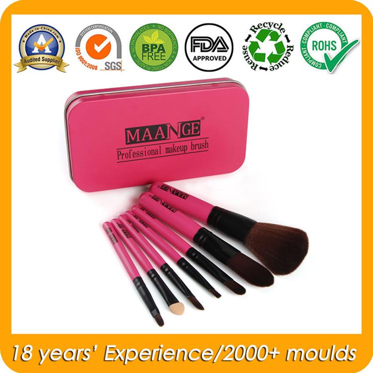 Rectangular Metal Tins for Makeup Brush Kit